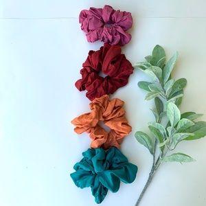 Vintage Oversized Scrunchie Set of 4 Fall Palette